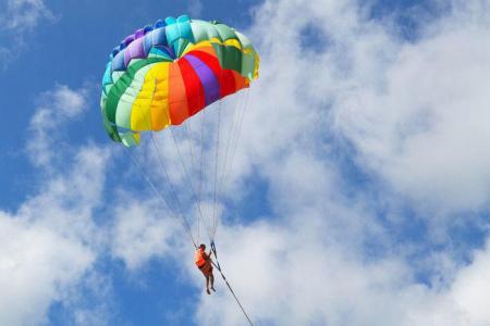 沙巴大冒險鮮體驗 飛翔傘+神山保齡溫泉 或 乳牛場一日遊